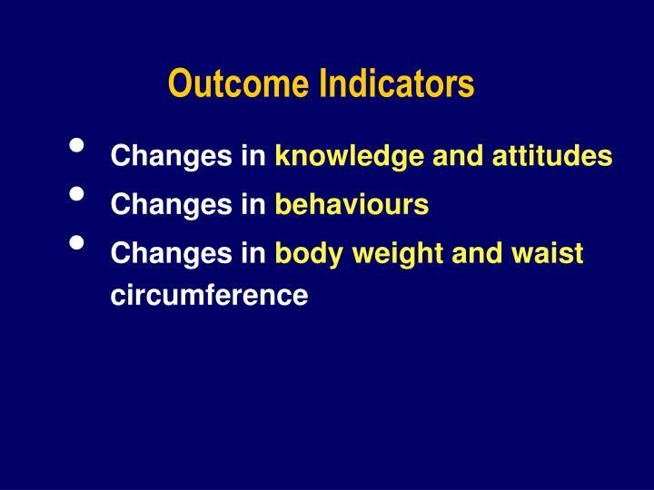 Outcome Indicators