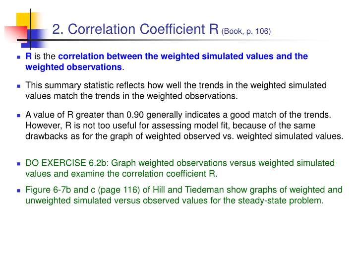 2. Correlation Coefficient R