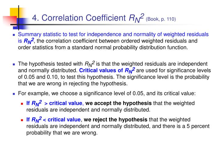 4. Correlation Coefficient