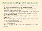retirement and disposal of fixed assets