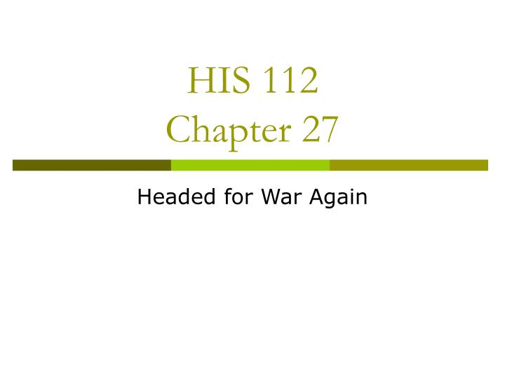his 112 chapter 27 n.