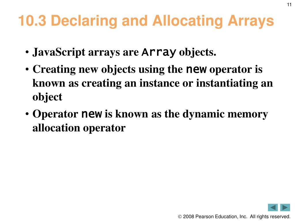 PPT - JavaScript: Arrays PowerPoint Presentation - ID:5756977