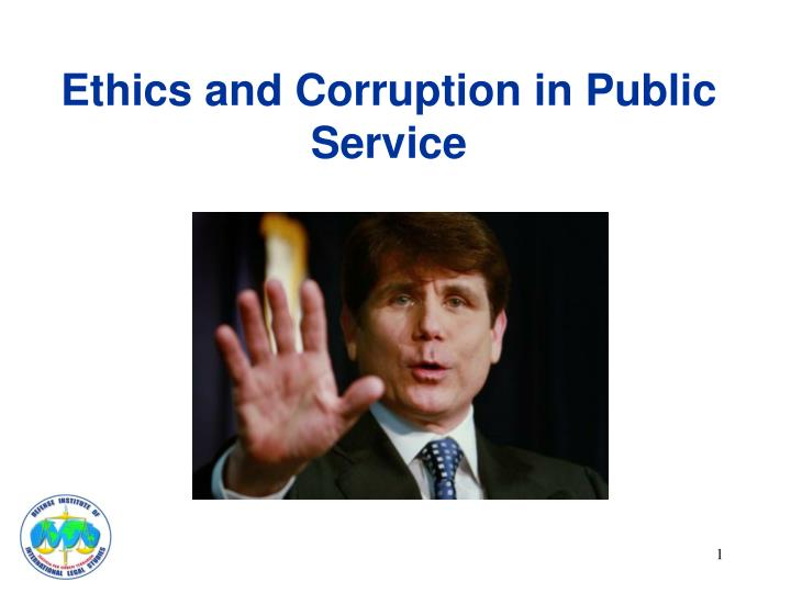 ethics and corruption in public service