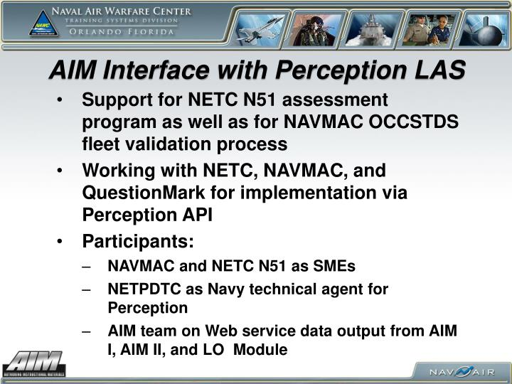 AIM Interface with Perception LAS