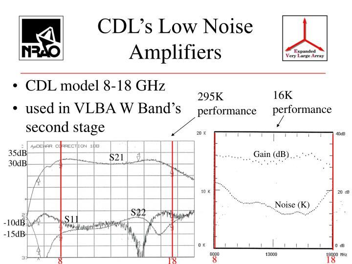 CDL's Low Noise Amplifiers
