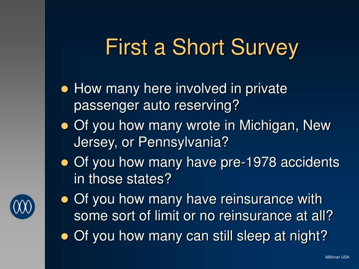 First a short survey