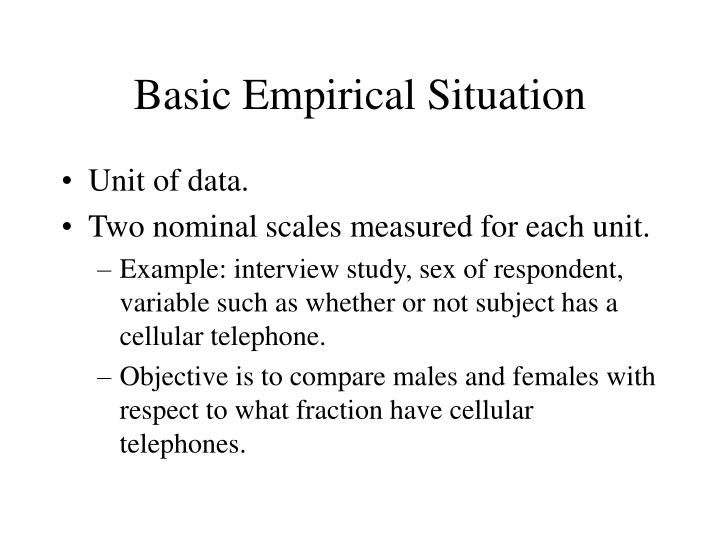 Basic Empirical Situation