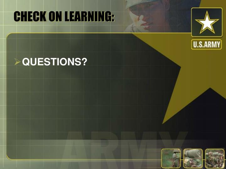 CHECK ON LEARNING: