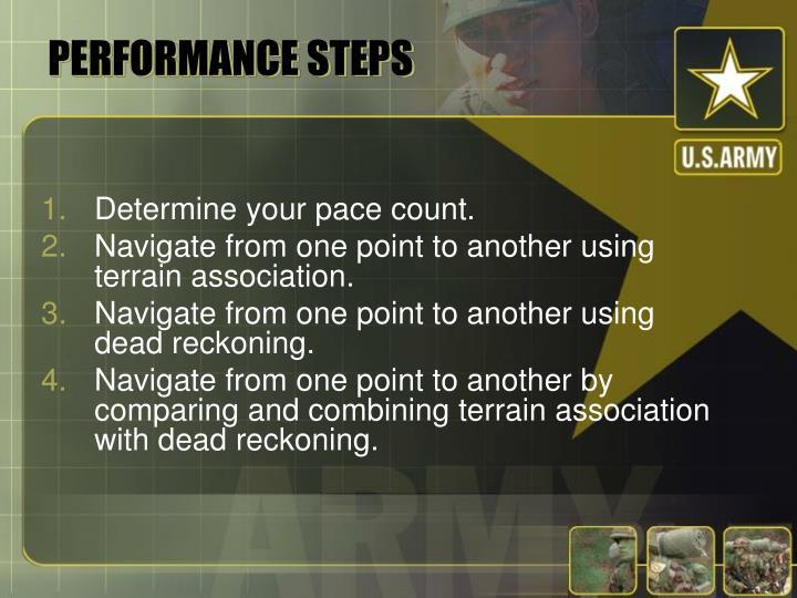 PERFORMANCE STEPS
