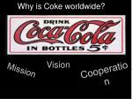 why is coke worldwide