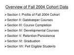 overview of fall 2004 cohort data