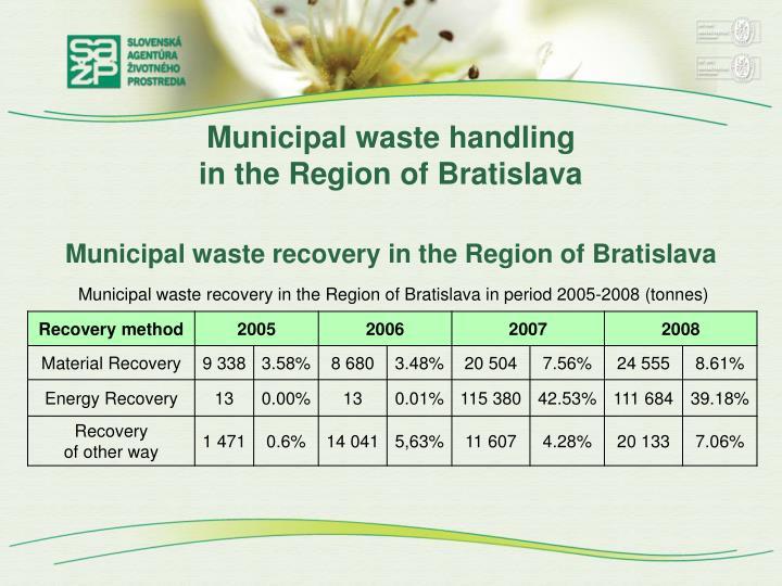 Municipal waste handling