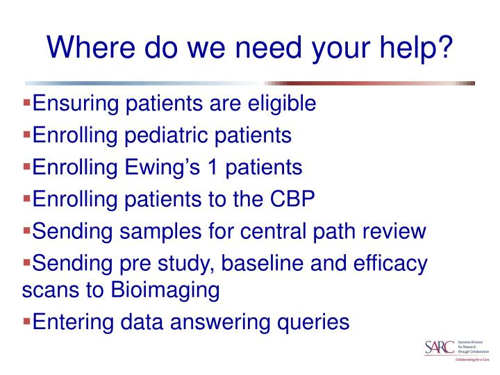 Where do we need your help?