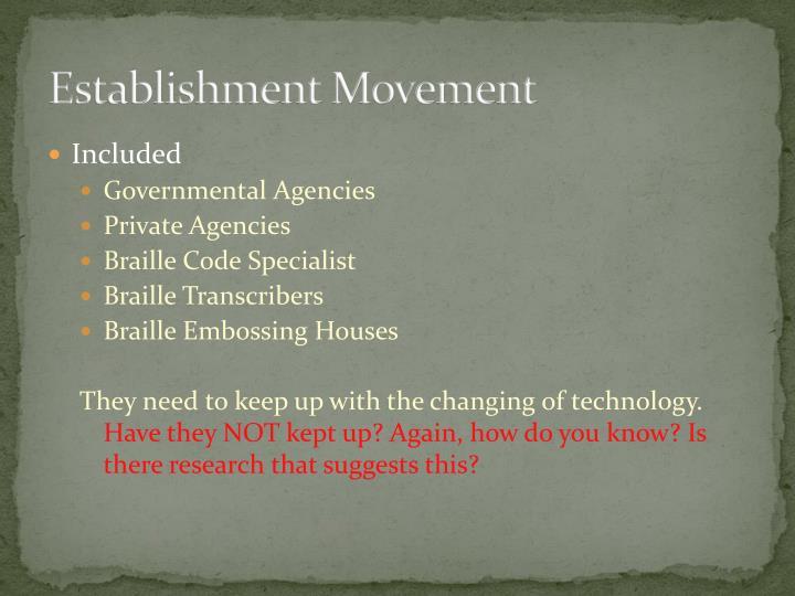 Establishment Movement