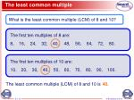 the least common multiple1