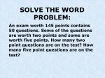 solve the word problem