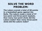 solve the word problem1