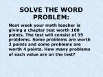 solve the word problem2