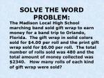 solve the word problem4
