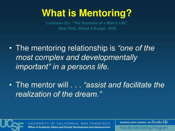 The mentoring relationship is