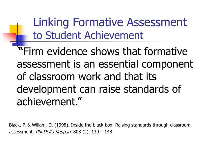 Linking Formative Assessment
