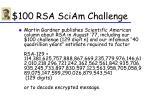 100 rsa sciam challenge