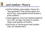 and number theory