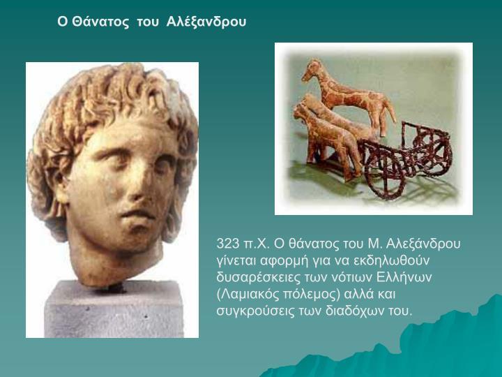 Ο Θάνατος  του  Αλέξανδρου