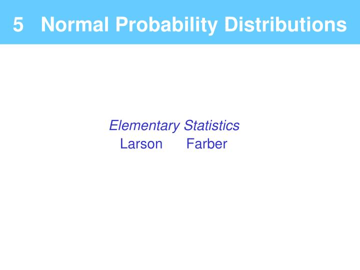5 normal probability distributions n.