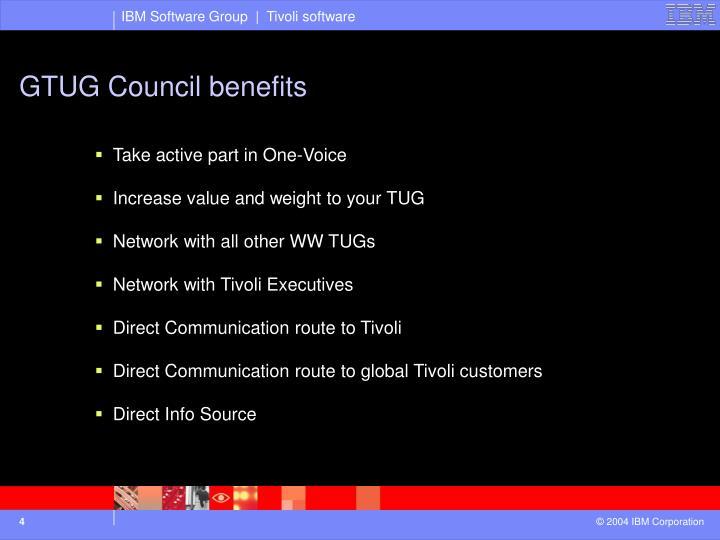 GTUG Council benefits