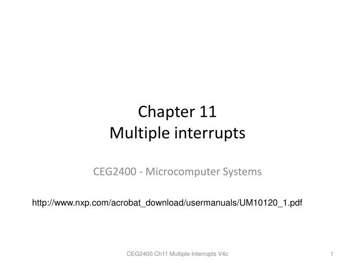 chapter 11 multiple interrupts