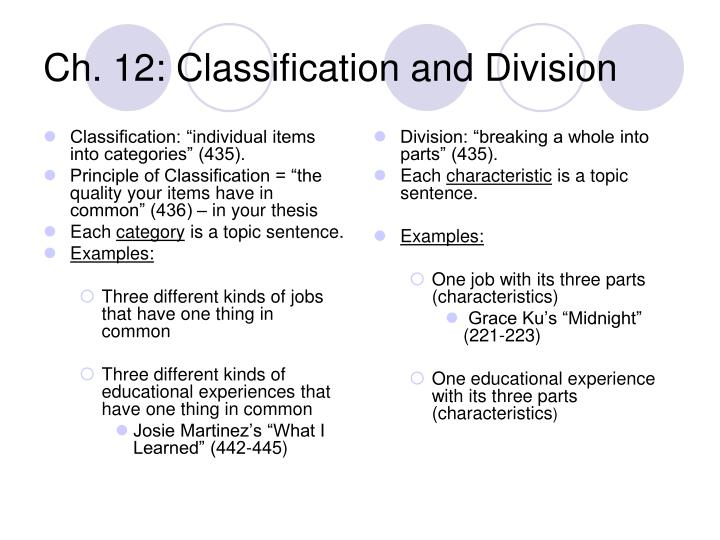 what is classification division