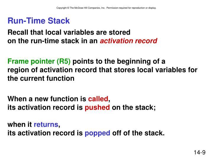 Run-Time Stack