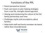 functions of the ppl