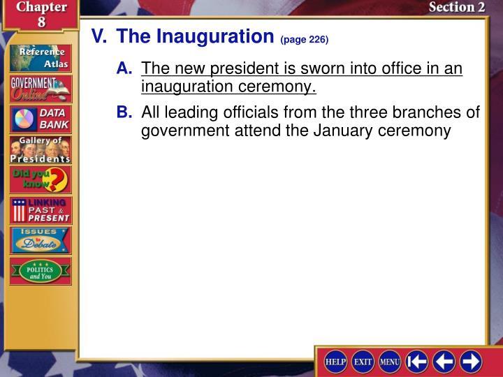 V.The Inauguration