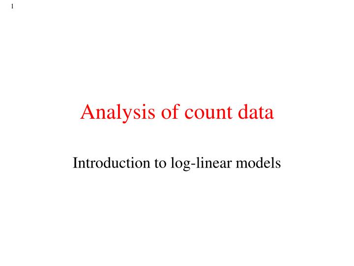 analysis of count data n.