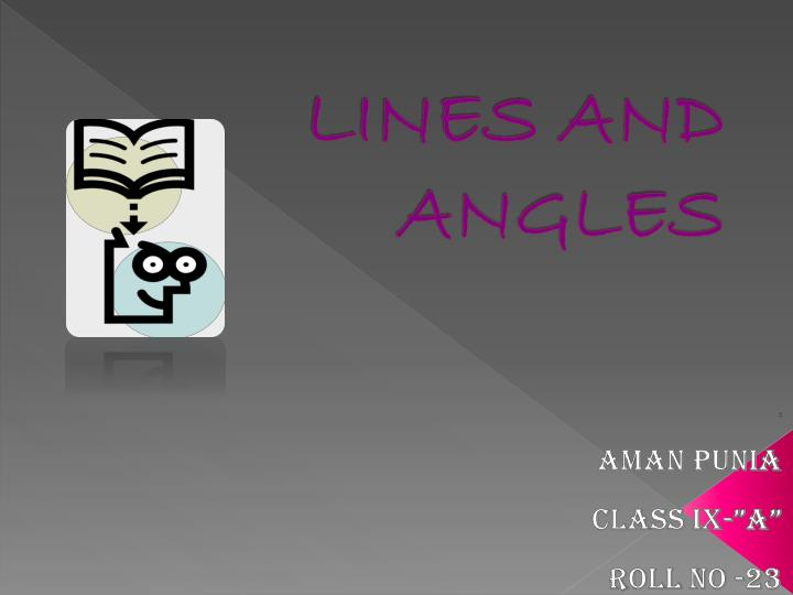 lines and angles n.