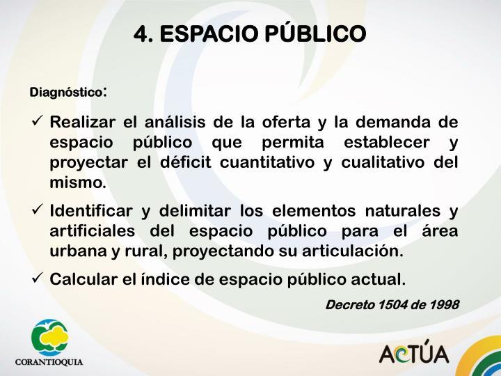 4. ESPACIO PÚBLICO