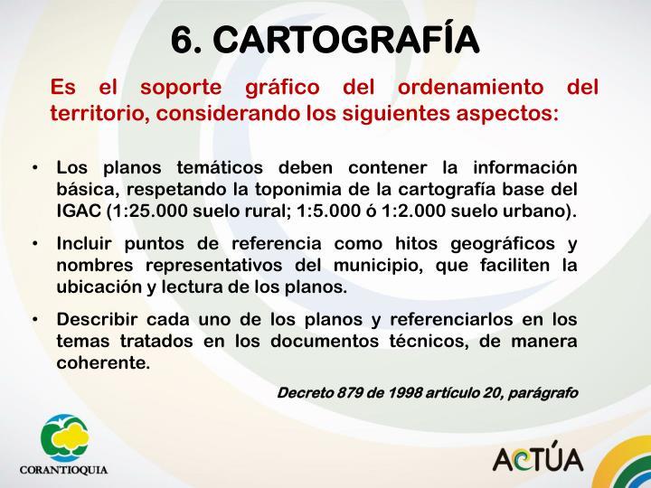 6. CARTOGRAFÍA