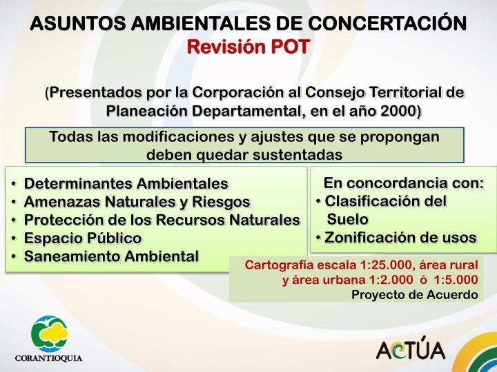ASUNTOS AMBIENTALES DE CONCERTACIÓN