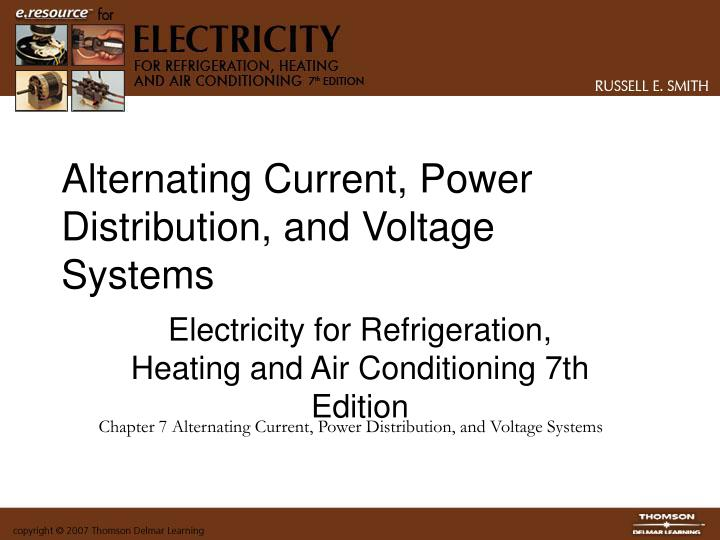 alternating current power distribution and voltage systems n.