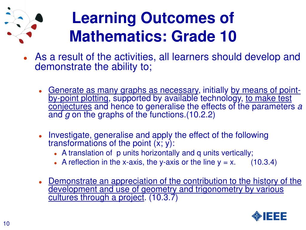 Grade 10 Functions And Graphs