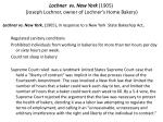 lochner vs new york 1905 joseph lochner owner of lochner s home bakery