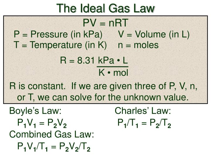 PPT - The Ideal Gas Law PowerPoint Presentation - ID:5758540