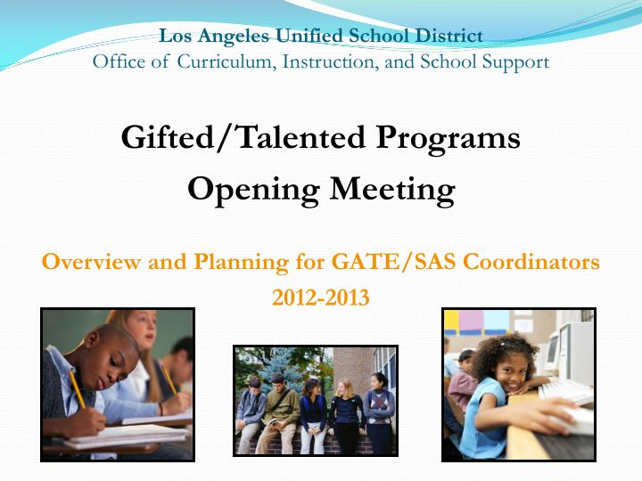 los angeles unified school district office of curriculum instruction and school support n.