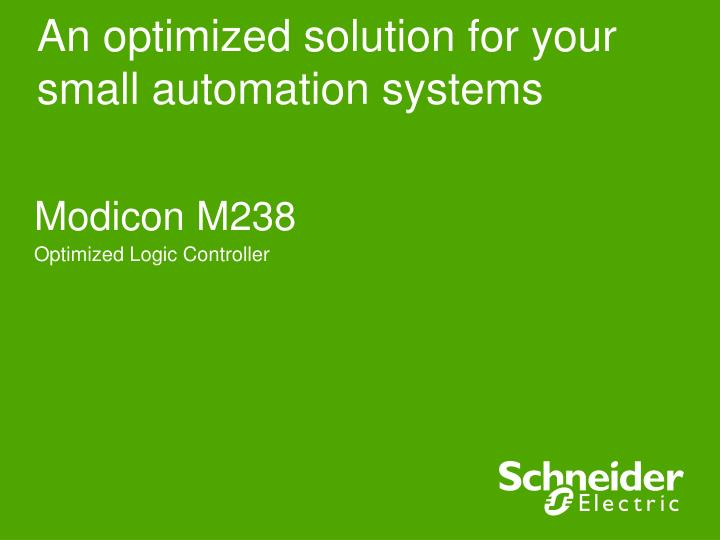 an optimized solution for your small automation systems n.