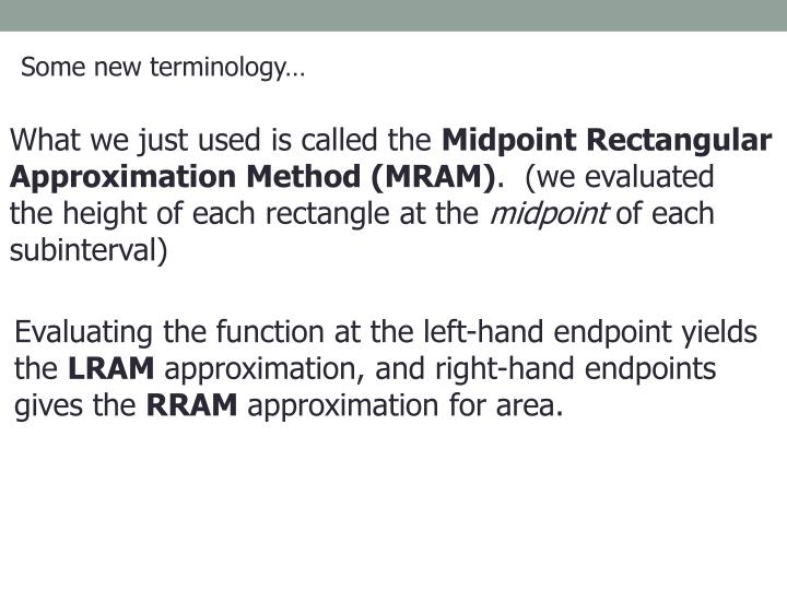 Some new terminology…