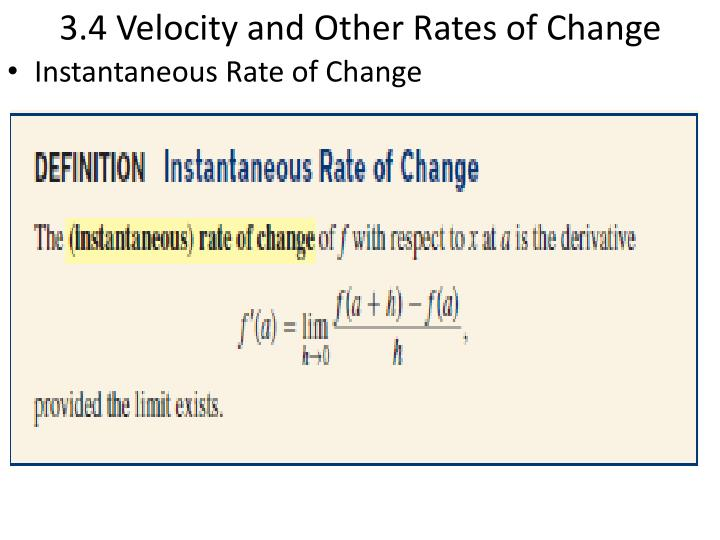 3 4 velocity and other rates of change n.