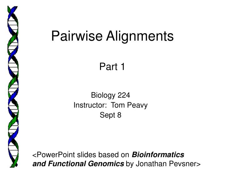pairwise alignments part 1 n.