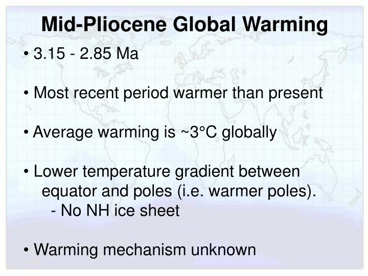 Mid-Pliocene Global Warming